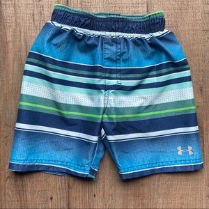 Under Armour Swim Trunks Shorts Size 3T Striped
